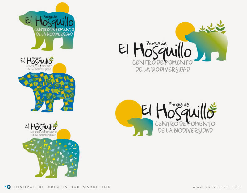 Proceso de diseño de logotipo del Parque de El Hosquillo.