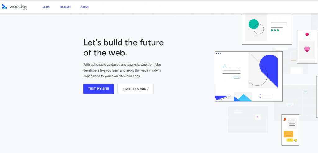 web.dev la nueva plataforma de Google home pantallazo